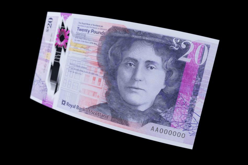 Банкнота номиналом £20 Королевского Шотландского Банка © De La Rue 2020