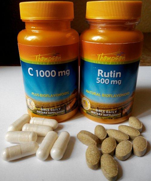 Рутин и витамин С в капсулах