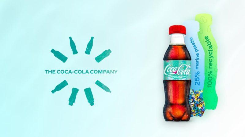 Coca-Cola создает бутылки из морского пластика