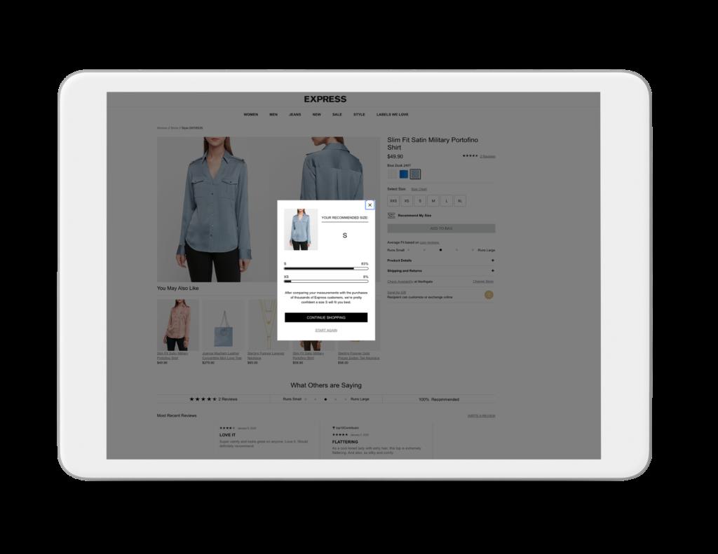 virtual sizer express site