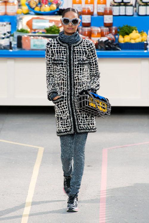 16 chanel fall 2014 runway gray sweatpants tweed jacket