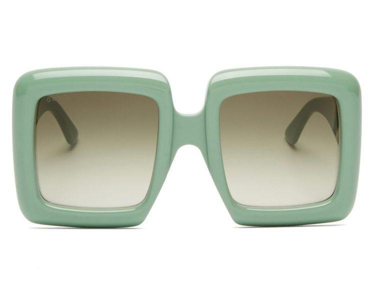 gucci oversized square acetate sunglasses