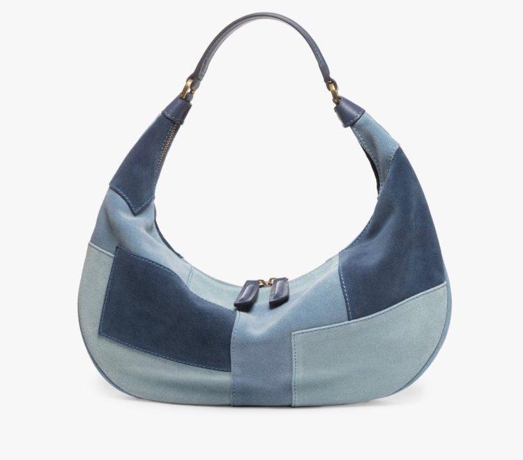 staud sasha bag blue patchwork