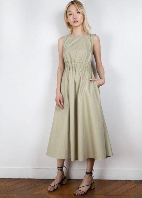 the frankie shop erica elastic open dress