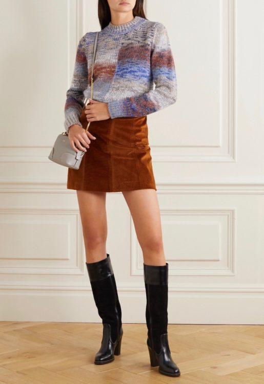 vanessa bruno melange knitted sweater