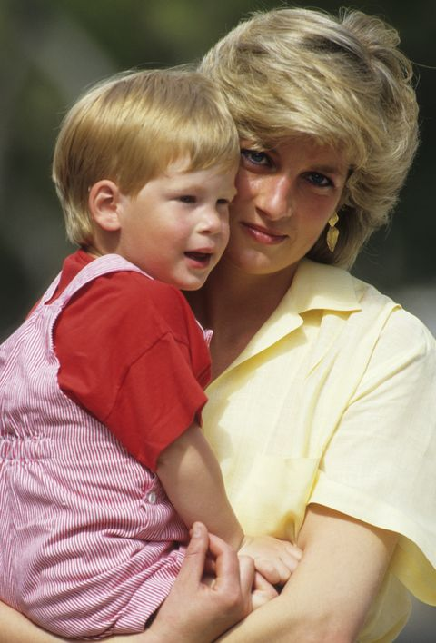 diana princess of wales with prince harry on holiday in news photo 1620925340