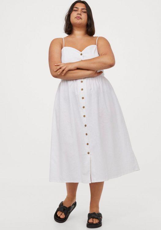 hm linen blend dress