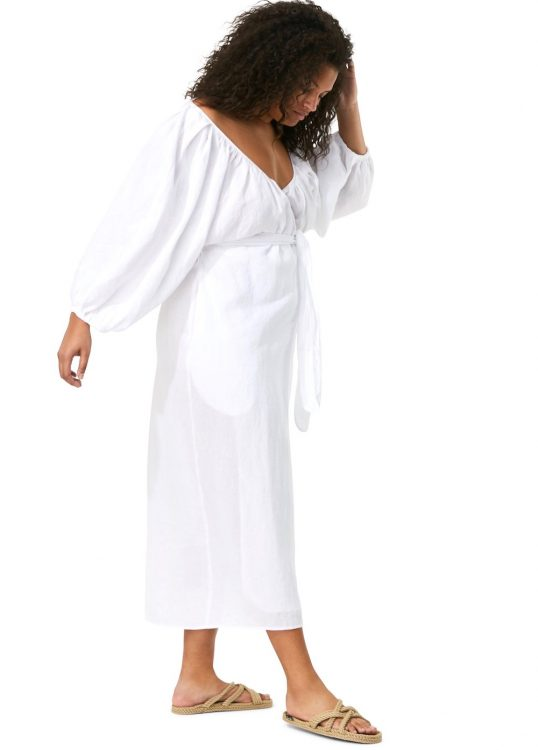 mara hoffman extended fila dress