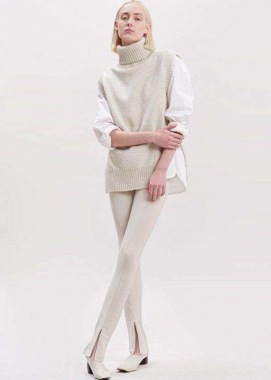 the frankie shop split seam flare legging