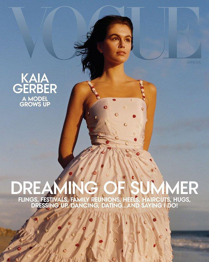Vogue июнь 2021. Кайя Гарбер воплощение лета