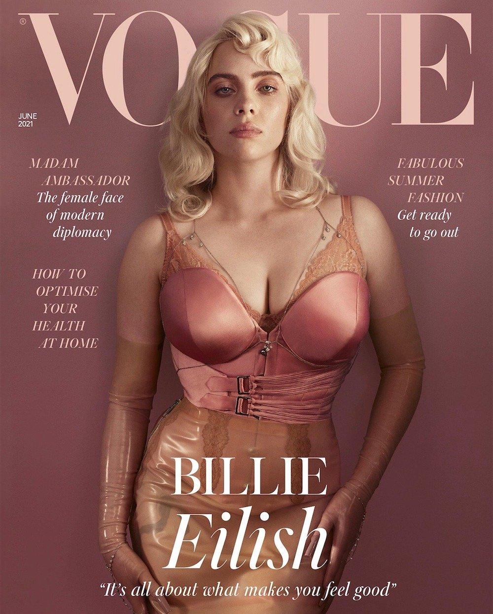 Британский Vogue июнь 2021. Билли Айлиш выглядела восхитительно!