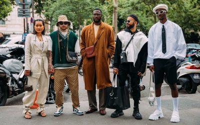 Лучшие образы уличного стиля с показа мужской недели моды в Париже весна-2022
