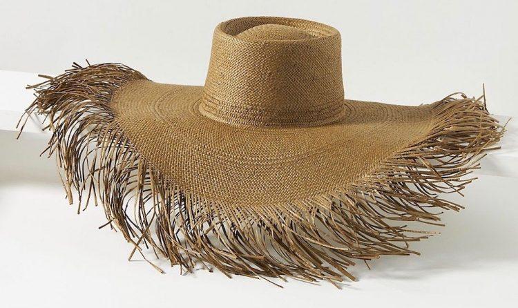anthropologie palms sun hat