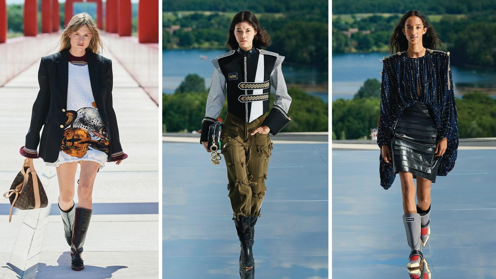 Показ Louis Vuitton 2022: футуристический взгляд на ковбойские сапоги
