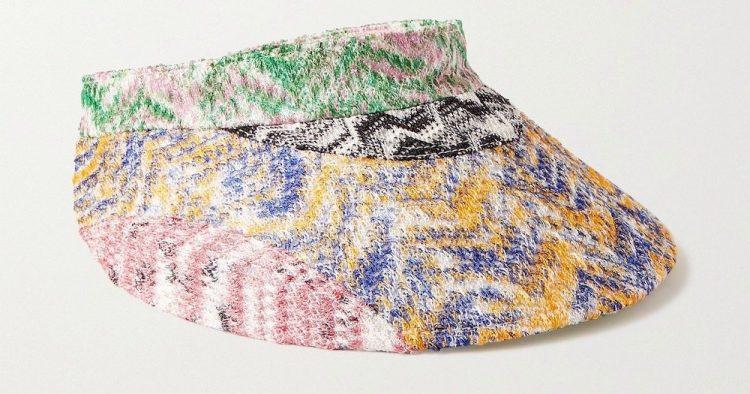 missoni crochet knit visor