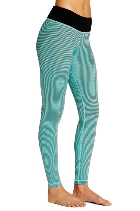 tippy toe legging mini stripe andaman green 1 025