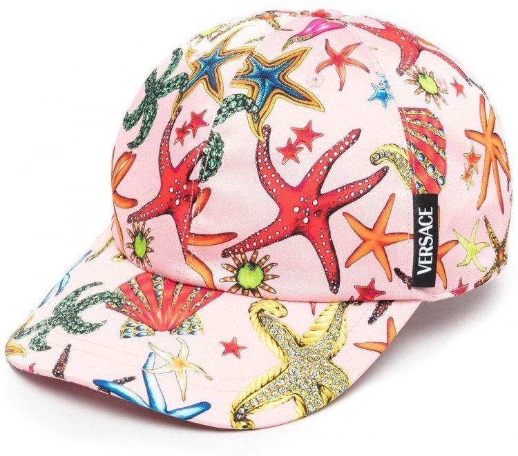 versace starfish print cap