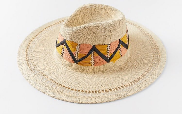 zara embroidered woven hat