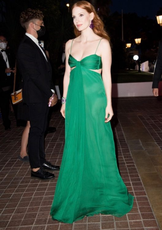 jessica chastain 2021 cannes chopard trophy dinner