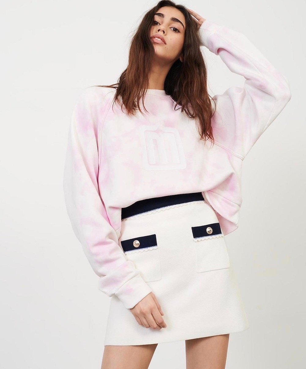 maje joliana knit mini skirt