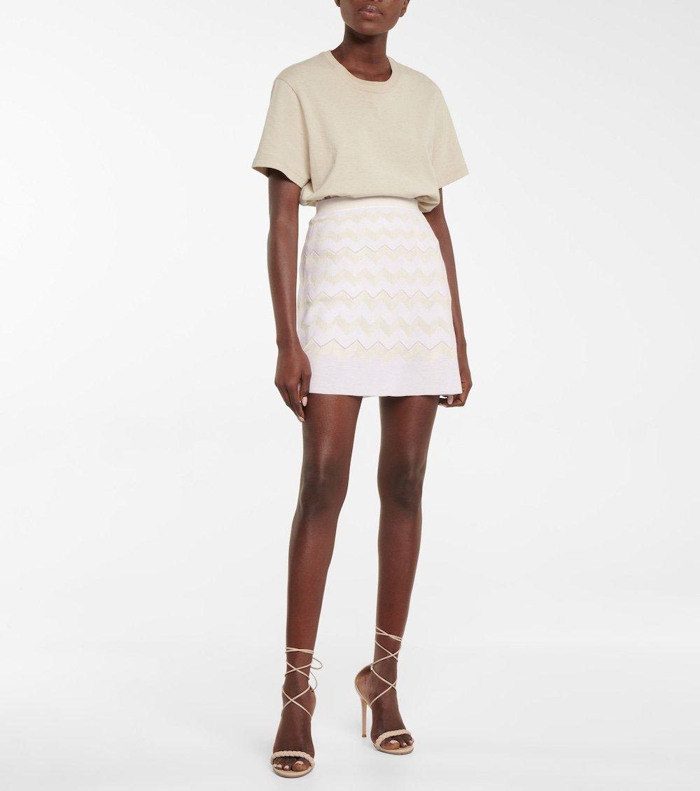 missoni chevron knit miniskirt
