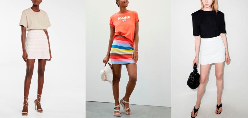 Вязаные мини-юбки — отличный способ перейти от лета к осени
