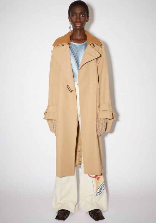 acne studios lined trench coat