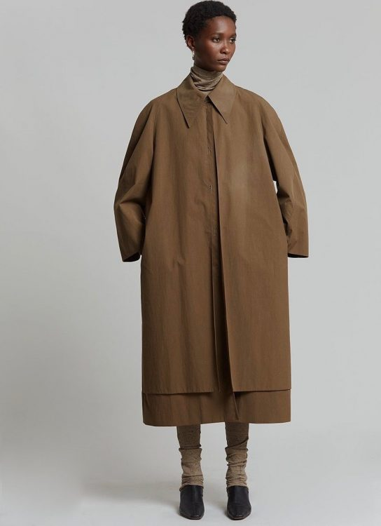 low classic recycled nylon single trench