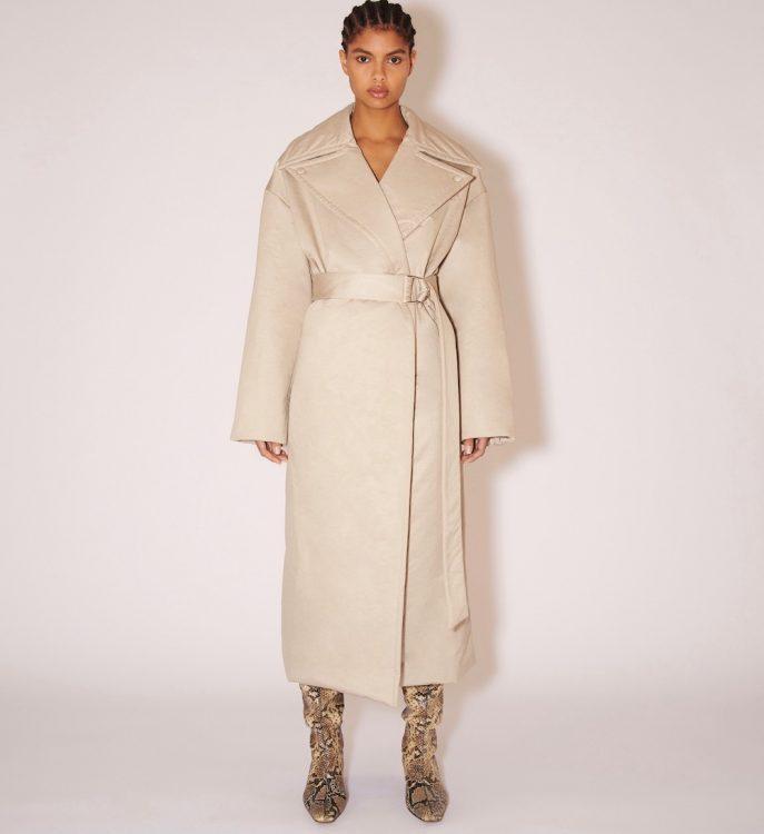nanushka liano nylon canvas trench coat
