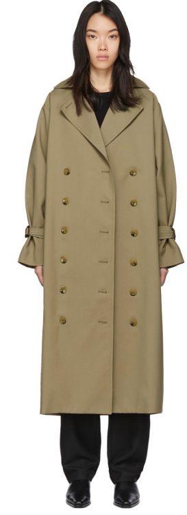 toteme khaki pisa trench coat