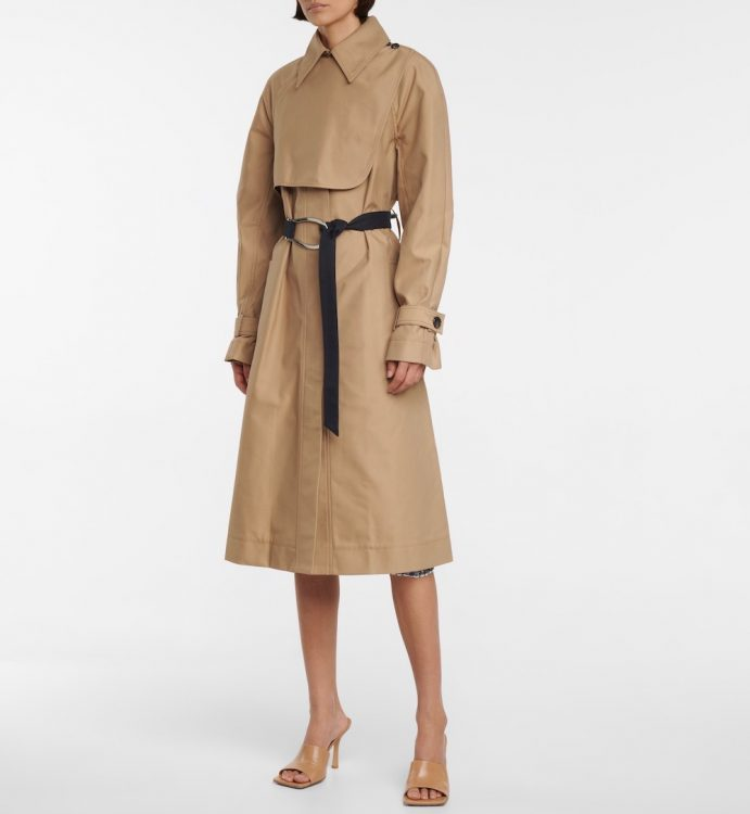 victoria victoria beckham double faced trench coat