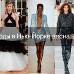Неделя моды в Нью-Йорке весна 2022 года