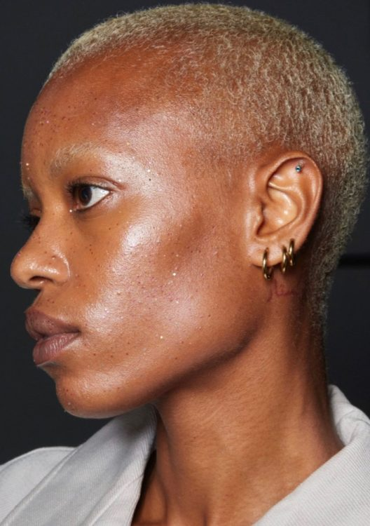private policy spring 2022 beauty highlighted skin natural makeup