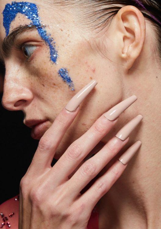 saint sintra spring 2022 beauty extra long neutral nail polish